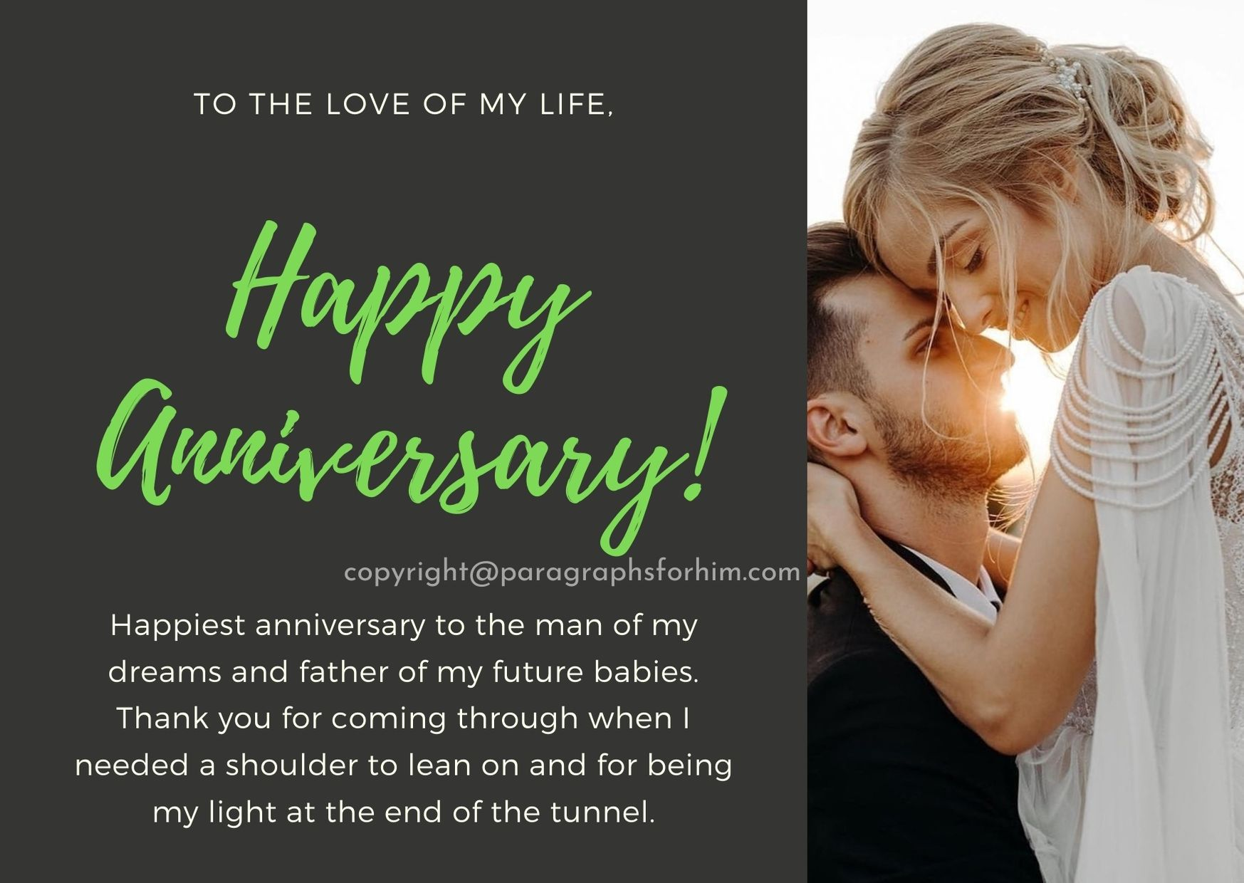 Anniversary Paragraphs For Him